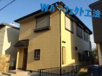 ラジカル制御型ハイブリッド塗料にてながもち塗装!外壁と屋根の配色もバッチリです☆